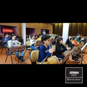گزارش تصویری از تمرینات ارکستر بزرگ کوبه ای سفیدکوب در سالن سرنا
