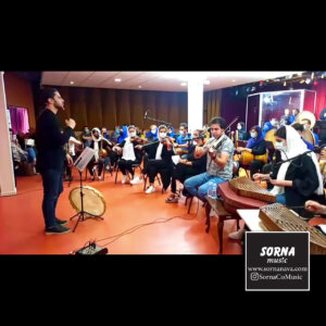 تمرین گروه دلاهنگ در سالن تمرین و کنسرت سرنا