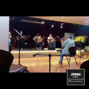 تمرین گروه موسیقی حافظ در سالن تمرین سرنا